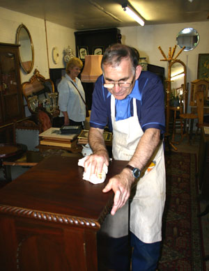 We undertake restoration to small pieces of antiques furniture